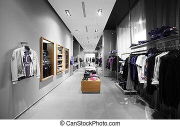 Moderne und Modekleider-Laden