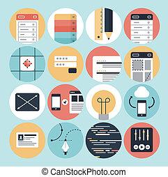Moderne Web-Entwicklung und grafische Design-Icons