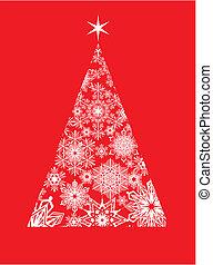 Moderne Weihnachtsgrußkarte