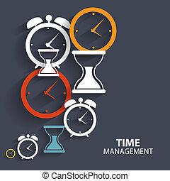 Modernes Flat Time Management Vektor Icon für Web und mobile Anwendung.