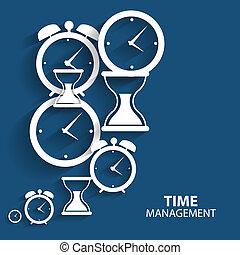 Modernes Flat Time Management Vektor Icon für Web und mobile.