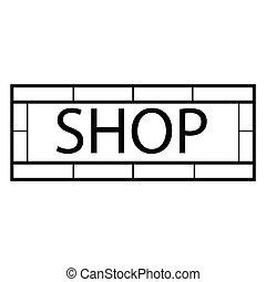 Modernes Ladenschild