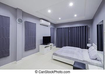 Modernes Schlafzimmer Interieur.