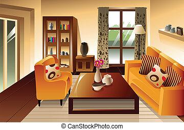 Modernes Wohnzimmer.