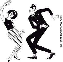 Mods Dance Clip Art.