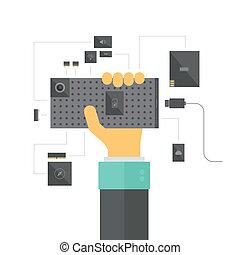 modular, smartphone, begriff, abbildung