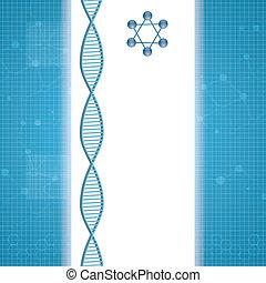 molekül, hintergrund, blaues, abstrakt
