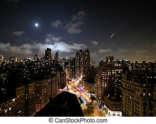 Mond über New York