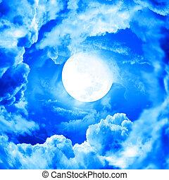 Mond im blauen Himmel