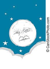 Mondgesicht Nummer zwei