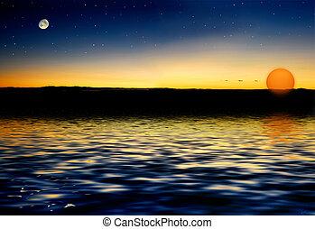 Mondsterne Sonne.
