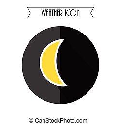 Mondsymbol. Wettervorhersage. Vector Illustration.