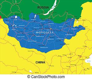 mongolia, landkarte