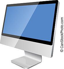monitor, modern, lcd