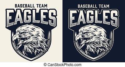monochrom, mannschaft, logo, baseball