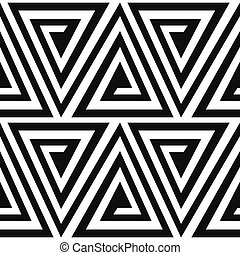 Monochrome alte Dreiecksspirale nahtlos.