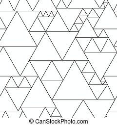 Monochrome Dreiecksmuster.