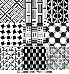 Monochrome nahtlos geometrische Patte