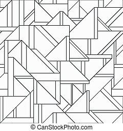 Monochrome Retro-Dreieck nahtlos Muster.