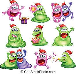 Monster feiern Weihnachten