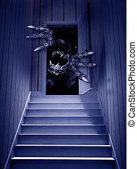 Monster in der offenen Tür
