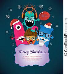 Monster-Merry-Weihnachtskarten-Design.