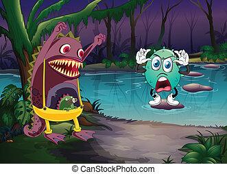 Monster und ein Fluss