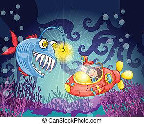 Monsterfisch und U-Boot