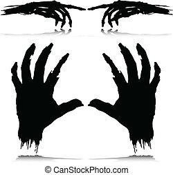 Monsterhandvektor-Silhouette