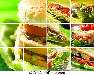 Montage des Snack-Essens