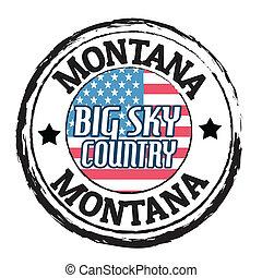 Montana, großer Himmelslandstempel