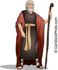 Moses aus Bibel für Überbleibsel.