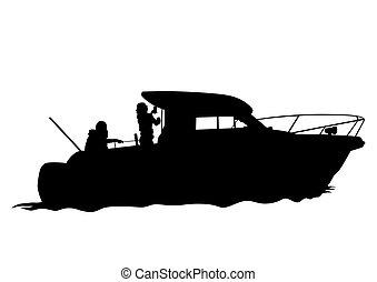 Motorboot zwei.