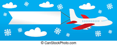 motorflugzeug, banner, th