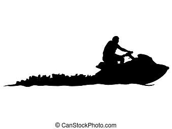 Motorrad-Aquabike.