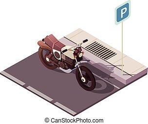 Motorrad isometrisches Konzept.