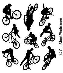 Motorrad-Silhouettes