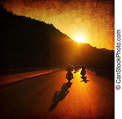 Motorradfahren.