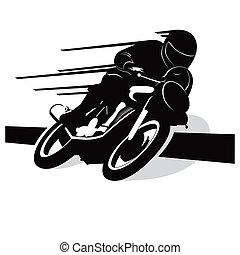 Motorradvektor-Hintergrund