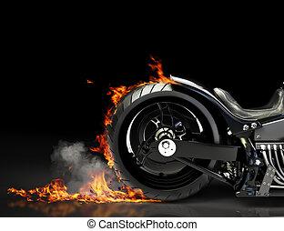 Motorradverbrennung