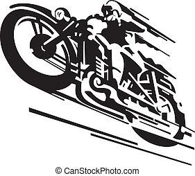 Motorradvevektor Hintergrund.