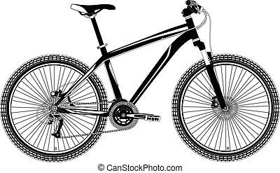 Mountain Bike Vektor.