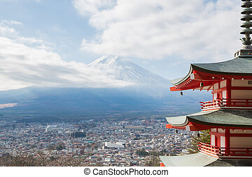 Mountain Fuji Landschaft.