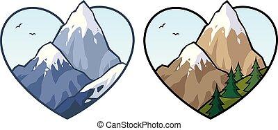 Mountain Love-Schild.