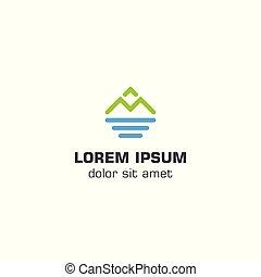 Mountain Sea Logo Vorlage.