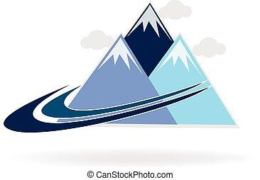 Mountain Swooshes Logo.