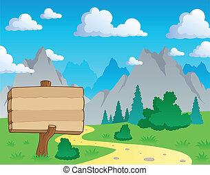 Mountain Thema Landschaft 2.