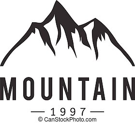 Mountain-Vektor-Ikonenabzeichen