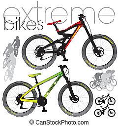 Mountainbike bereit