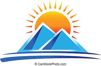 Mountains Logovektor
